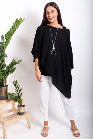 One Life Sunny Dip Side Cape Top Black