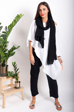 One Life Shawl Black