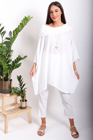 One Life Vici Cowl Oversized Top Snow