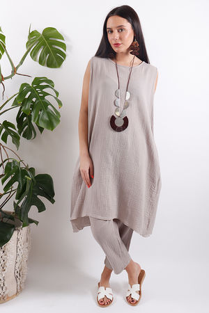 One Life Viva Tunic Taupe