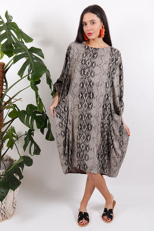 Out of Africa Cobra Cocoon Dress Bark