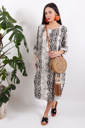 Out of Africa Cobra Cocoon Dress Coconut