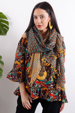 Out of Africa Jungle Tassel Scarf