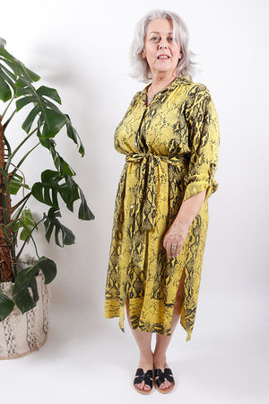 Out of Africa Cobra Tie Dress Sulphur