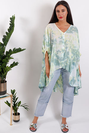Oversized Acid Dream Top Green