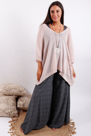 Oversized Box Knit Blush