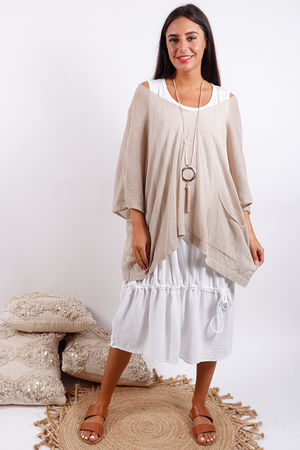 Oversized Box Knit Sand