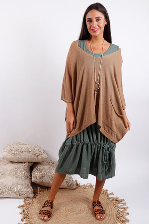 Oversized Box Knit Tobacco
