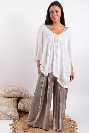 Oversized Box Knit White