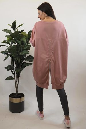 Oversized Mega Zip Sweat Indian Rose