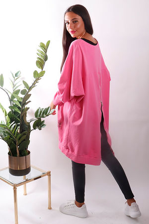 Oversized Mega Zip Sweat Neon Candy