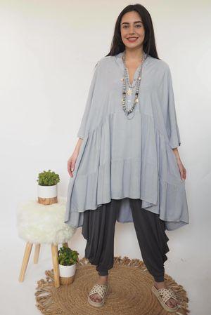 Oversized Smock Dress Dove