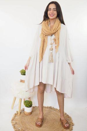 Oversized Smock Dress Stone