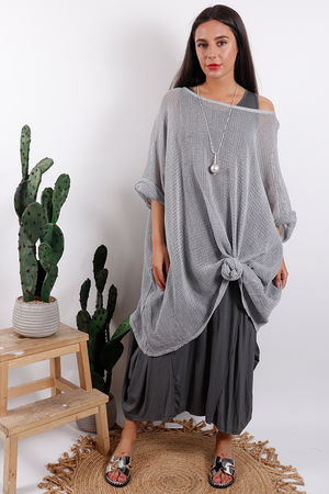 Oversized T Bag Top Dove