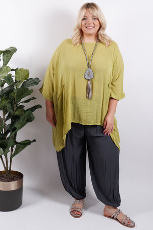 Oversized Top Lime