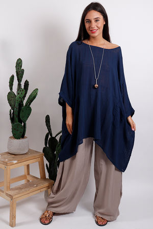 Oversized Top Navy