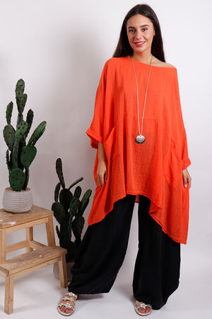 Oversized Top Tangerine