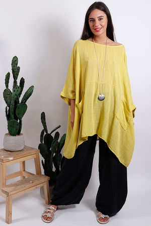 Oversized Top Yellow