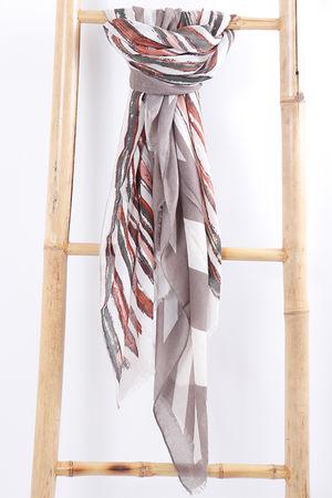 Paint Stripe Scarf Neutral