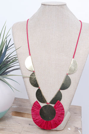 Palme Africa Necklace Fuchsia