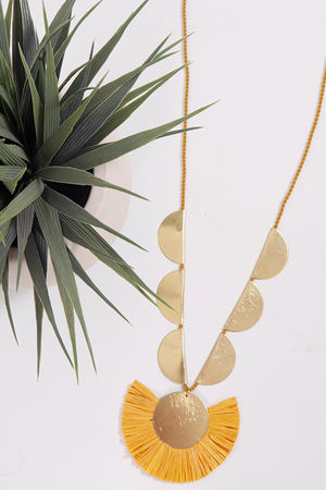 Palme Africa Necklace Mustard