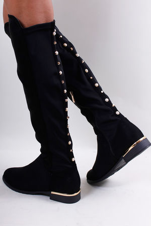 Pearl Over The Knee Boots