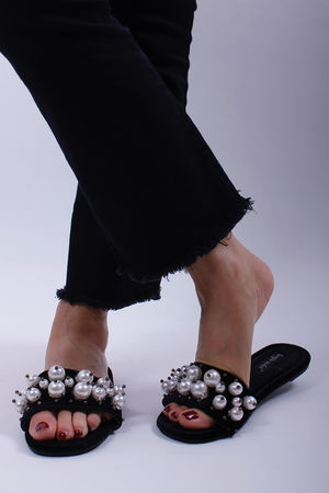 Pearl Sliders Black