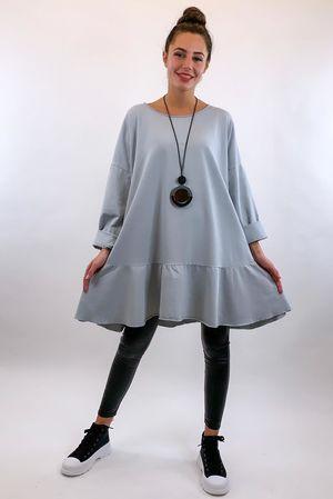 Peplum Tunic Dress Dove