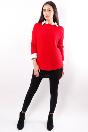The Pimple Knit Red