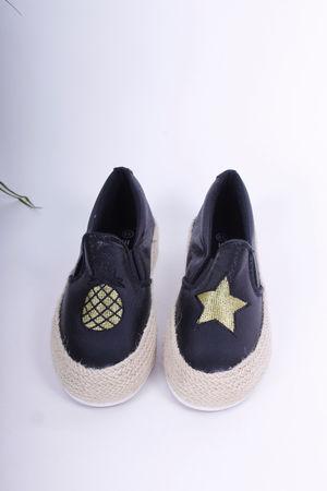 Pineapple & Star Espadrille Pumps Black