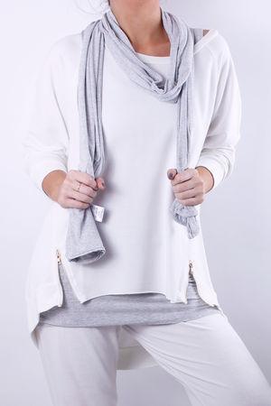 Plain Scarf Melange Grey Marl