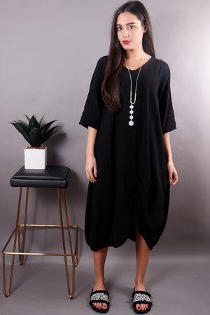 Planet Twist Front Dress Black