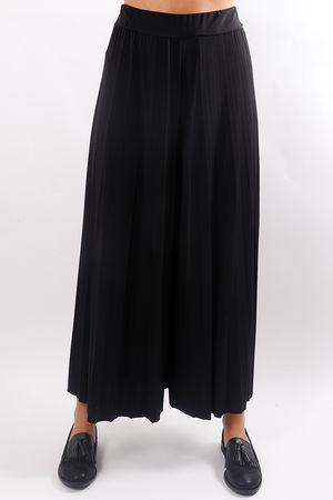 Pleated Culotte Pant Black