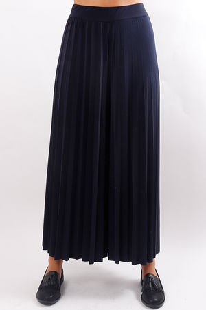 Pleated Culotte Pant Navy