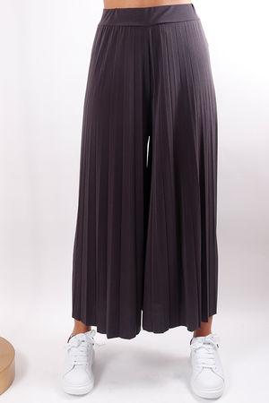 Pleated Culotte Pant Slate