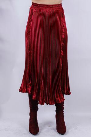 Pleated Skirt Bordeaux