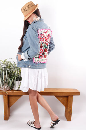 Pom Pom Denim Jacket