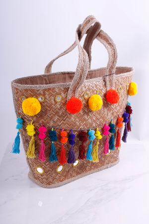 Pom Pom & Tassel Beach Bag