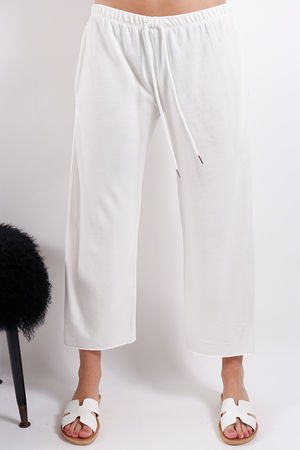 Postcard Ellie Raw Edge Jogger Daisy White