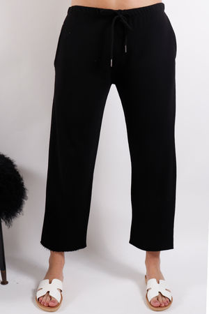 Postcard Ellie Raw Edge Jogger Soft Black
