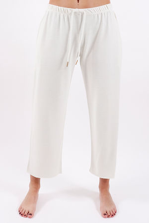 Postcard Ellie Raw Edge Pants Coconut White