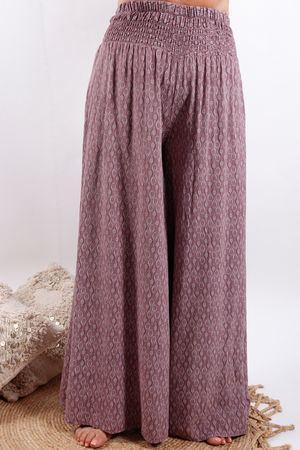 Printed Palazzo Pants Grape