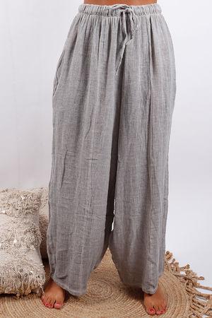 Provence Hopsac Linen Pant Oat
