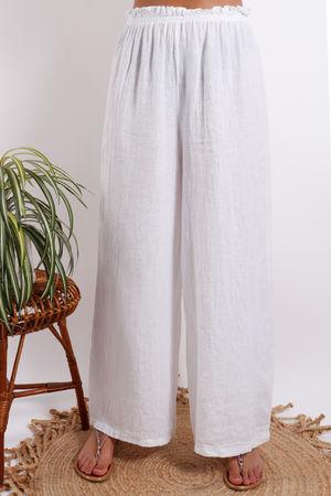 Provence Linen Pant White