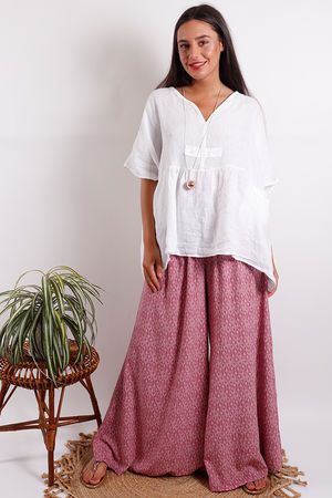 Provence Smock Top White