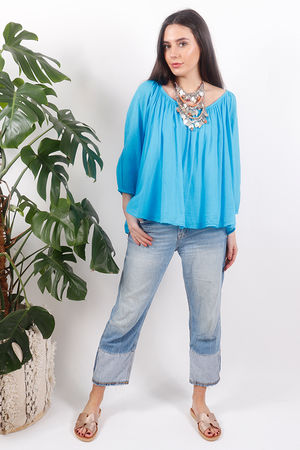 Pure & Simple Gypsy Top Azure