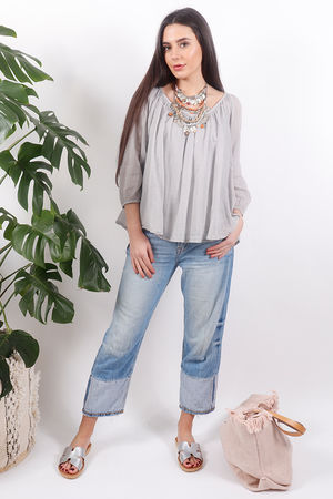 Pure & Simple Gypsy Top Dove