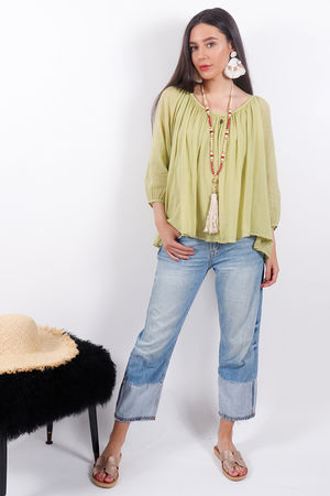 Pure & Simple Gypsy Top Lime