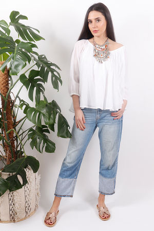 Pure & Simple Gypsy Top White