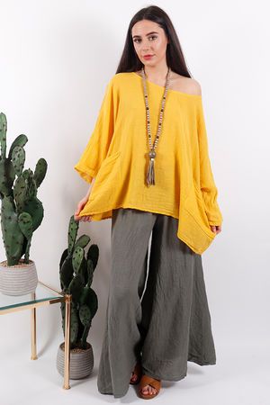 Pure & Simple Pocket Top Mellow Yellow